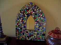 Patchwork Arch Mosaic Mirror