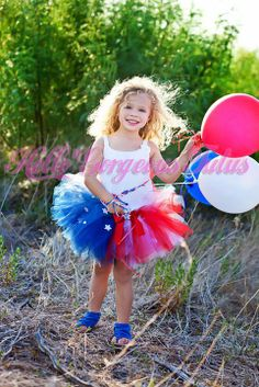 Patriotic Tutu Red White and Blue by HelloGorgeousTutus on Etsy, $29.00