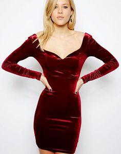 Red velvet dress Valentine Dress Red dress for by MyBarkatVilla