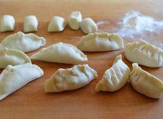 Gluten Free potstickers (pelmeni) *add dill, oregano & basil to spice meat