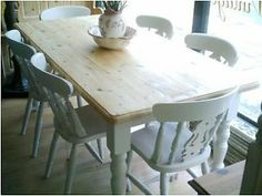 shabby chic dining tables and chairs dressers cabinets pine handpainted vintage retro antique items Faversham Picture 1
