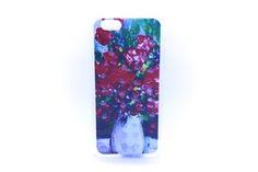 Carcaza Pintura Jarrón Flores Relieve Iphone 4 / Iphone 5 / Iphone 6 — HighTeck Store