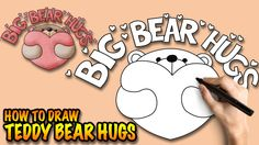 How to draw Cute Big Bear Hugs - Easy step-by-step drawing tuturial