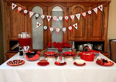How sweet! Ladybug theme party...Ada loves ladybugs and we call her Ada-bug!