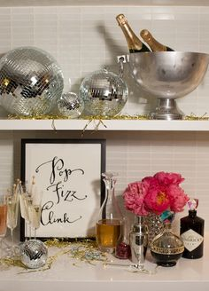 Champagne Bar| New Year's Eve Party with Kate Spade | Camille Styles
