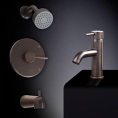 Rotunda Tub and Shower Set #5 - with Curved Single-Hole Sink Faucet