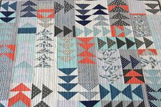 Flying geese quilt.