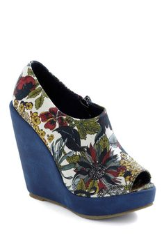 c66ecb503fb0 I m diggin  on floral wedges for the summer. Class at the Conservatory Wedge