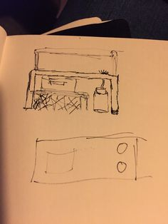 Kitchen idea with two small gas pits to warm up stuff