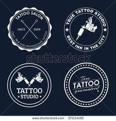 Logo Design on a blue background for tattoo parlors, shops, studios and tattoo… Tattoo Studio, Rasta Tattoo, Mermaid Background, True Tattoo, Find Logo, Vector Logo Design, Artist Logo, Phone Stickers, Business Card Design