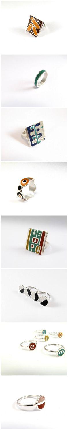 Collection of rings by Maldonadojoyas  http://www.etsy.com/shop/maldonadojoyas?section_id=7841998
