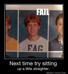 Bahahahah!!!!!! Seriously unfortunate wardrobe choice for school pic day!! OMG
