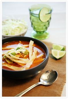 REAL CHICKEN TORTILLA SOUP-AUTHENTIC