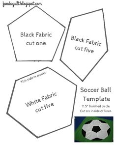 Fly Away Quilts: Quilted Soccer Ball