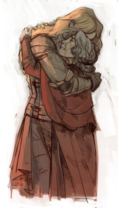 Aegnor and Andreth--She looks like she could be in her fifties here...I'm imagining that she came soon before he left for his final battle to tell him she loved him since she now knew that he returned her love. :'(