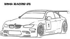 BMW Race Car Coloring Pages
