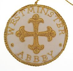 Westminster Abbey Cream Patonce Cross Roundel Decoration