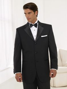 Three (3) Button Wool Tuxedo Package - Includes All Accessories