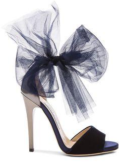 b70637aa0bb0 Jimmy Choo Lilyth Satin and Velvet Heels - ShopStyle Sandals