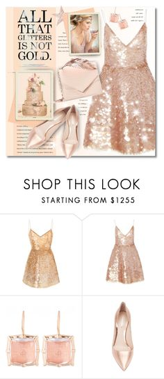 """""""All That Glitters..."""" by petri5 ❤ liked on Polyvore featuring Monique Lhuillier, Larkspur & Hawk, Nicholas Kirkwood and Ralph & Russo"""