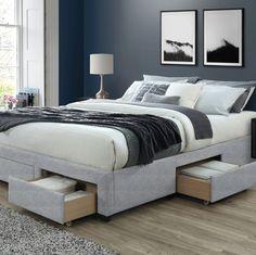 Shop Cosmo Queen Storage Bed Base - On Sale - Overstock - 28502691 Platform Bed Frame, Upholstered Platform Bed, Bed Storage, Storage Drawers, Bed Base With Storage, Smart Bed, Bed Reviews, Panel Bed, Modern Spaces