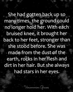 But she always had stars in her eyes