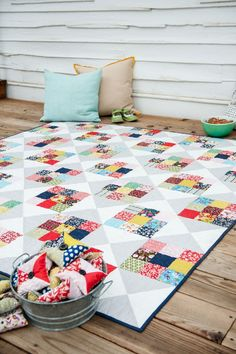 Make Your Move game quilt from the book, For Keeps: Meaningful Patchwork for Everyday Living.