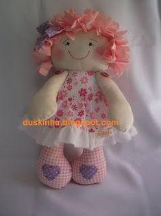 D u s k i n h a: boneca de pano Felicia