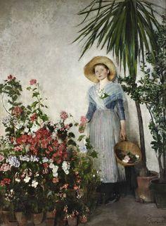 Olga Boznańska W oranżerii (W cieplarni) ,   1890, Muzeum Narodowe w Warszawie