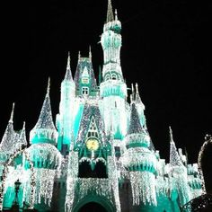 The happiest place on earth at the most wonderful time of the year ❤ christmas in walt disney world #cinderellascastle