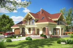 DOM.PL™ - Projekt domu Mój dom Ciemiernik III z garażem dwustanowiskowym CE - DOM BR3-38 - gotowy projekt domu