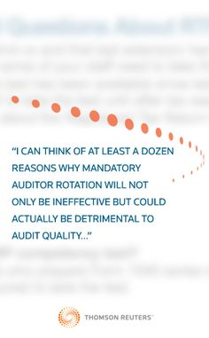 Auditors have an inescapable conflict of interest in that the companies they audit pay their fees, but is the PCAOB's implementation of mandatory audit firm rotation the solution? Blogger Winford Paschall votes instead for financial statement insurance…read more at this post on the CPE & Training Blog, July 18, 2012. #CPE #Audit #Auditor #Auditing #Accounting