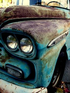 Classic Cars & Car Photography - Chevrolet Apache, via. Classic Trucks, Classic Cars, Chevrolet Apache, Rust In Peace, Old Pickup, Rusty Cars, Truck Art, Abandoned Cars, Abandoned Places