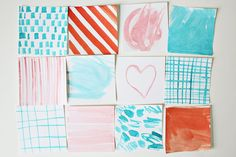 Ideas for making watercolor graphic designs (for scrapbooking, card-making, etc.).