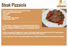 Steak Pizzaiola! YUMMMMMM!