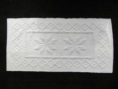 """a détacher - portuguese bath mat : white cotton 19.5 x 40"""""""