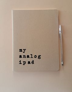 XL Notebook: 'my analog ipad'  MOLESKINE® extra by Alfamarama