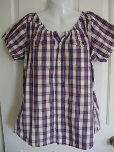 peasant blouse from men's shirt