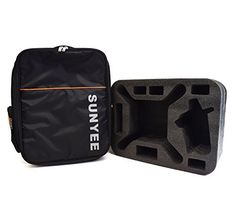 SUNYEE Durable Double Shoulder Casual Backpack Carrying Bag Case with Custom Pre-Cut Foam Insert for DJI Phantom 3 Drone and Accessories *** Read more  at the image link.