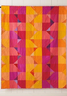 Quilt Giving pattern book by Deborah Fisher. Love the striped fabric binding!