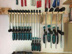 Rack serre joint mural ranger son atelier pinterest - Rangement mural atelier ...