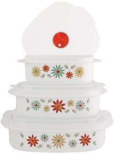 Reston Lloyd 20247 Corelle Coordinates - Microwave cookware Storage Sets - Happy Days, As Shown Microwave Storage, Microwave Cookware, Kitchen Storage, Accessoires Divers, Storage Sets, Cookware Set, Food Storage Containers, Happy Day, Decorative Boxes