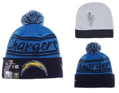 dc1483899ee Mens   Womens San Diego Chargers New Era 2016 NFL Fashion Blue Pom Fire  Cuffed Knit Pom Beanie Cap - Blue   Black