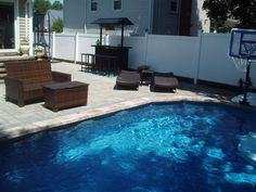 A Cambridge Pavers pool patio is a great addition to any backyard outdoor living space.