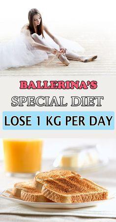 Ballerina's special diet: lose 1 kg per day