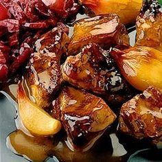 Braised pork in a cider vinegar sauce.