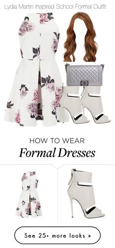 """Lydia Martin Inspired School Formal Outfit"" by staystronng on Polyvore featuring Cameo, Giuseppe Zanotti, Chanel, Prom, school, formal, LydiaMartin and tw"