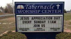 Jesus Appreciation Day
