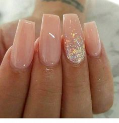 Stylish Acrylic Nail Designs That You Have to Try This Year; Acrylic Nails 2018 Stylish Acrylic Nail Designs That You Have to Try This Year; Summer Acrylic Nails, Cute Acrylic Nails, Summer Nails, Wedding Acrylic Nails, Neutral Acrylic Nails, Acrylic Nail Designs Glitter, Pink Wedding Nails, Pink Acrylics, Acrylic Nails With Design