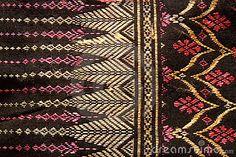 Thai folk textile made by handwork